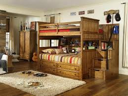 twin bunk beds with stairs glamorous bedroom design