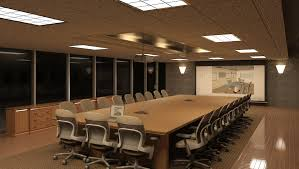 conference table with recessed monitors modern home office design displaying wonderful meeting room design