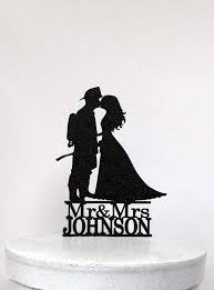 fireman wedding cake toppers personalized wedding cake topper fireman and silhouette 2