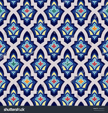 moroccan tile islamic seamless pattern moroccan tile oriental stock vector