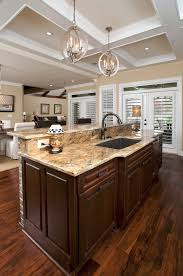 brown kitchen sinks wondrous dark brown wooden finished large counter kitchen island