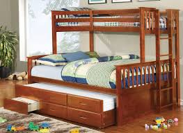 Bunk Bed With Trundle And Drawers Wood Bed With Trundle All The Advantages Of Bed