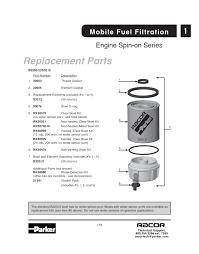 nissan titan fuel filter b32012 parker racor spin on fuel filter separator