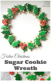festive christmas sugar cookie wreath pin jpg