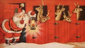 pumpernickel christmas cards vintage christmas card santa his reindeer pumpernickel pixie