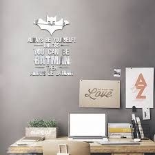 compare prices on mirror quotes online shopping buy low price bat mirror wall stickers quotes wall decor living room bedroom kids wall stickers autocollant mural decorative