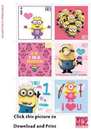 printable minion valentines directions