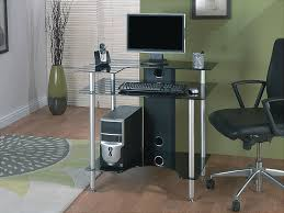 Cable Management Computer Desk Glass Computer Desk For Full Advantages All Office Desk Design