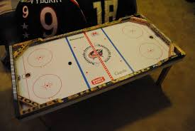 themed coffee table hockey coffee table columbus blue jackets theme 2009