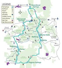 Colorado County Map by Map Of The Colorado Historic Springs Loop The Thermal Waters