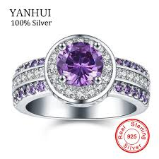 Purple Wedding Rings by Online Get Cheap Purple Engagement Rings Aliexpress Com Alibaba