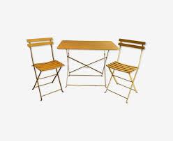chaises fermob table et 4 chaises fermob vintage fer jaune vintage sn0fpuu