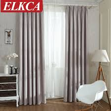 Curtains Blinds Solid Colors Blackout Curtains For The Bedroom Faux Linen Modern