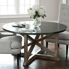 metal top round dining table model of zinc dining table cole papers design remove rust at
