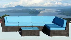 Wicker Patio Furniture San Diego by Bellagio 7 Piece Outdoor Wicker Sectional Sofa Set Las Vegas Patio