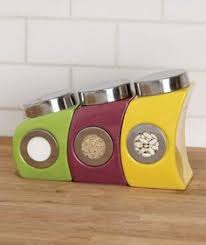 colorful kitchen canisters sets stainless steel canister set 89 http www tramontina
