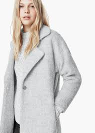 light grey wool coat lyst mango lapels wool coat in gray