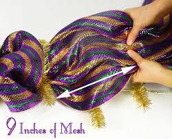 mardi gras deco mesh mardi gras garland tutorial deco mesh work garland form mardi
