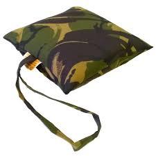water repellent material green camouflage bean bag sbag