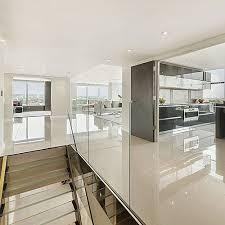 Porcelain Tile Kitchen Floor Large Porcelain Tiles In City Apartment With A Polished Finish