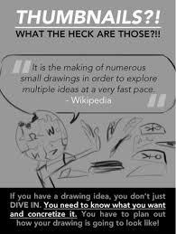 what is a thumbnail sketch mrs lundgren u0027s art room