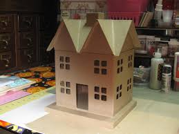 project share paper mache remodeled christmas house 26dec2014