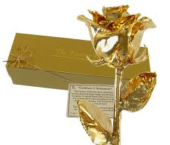amazon com 24k gold dipped real rose w gold gift box by the