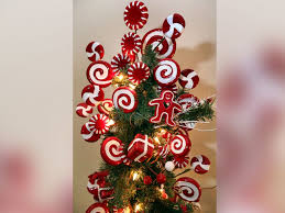candy christmas tree this has 50 christmas trees inside their house abc news