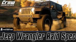 jeep rubicon specs the crew calling all units jeep wrangler raid spec customization