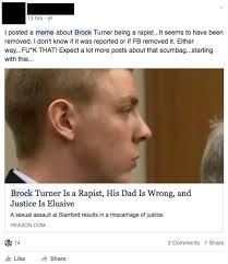 Stanford Meme - facebook censored this brock turner meme and people are furious