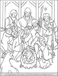 nativity coloring page thecatholickid com