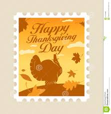 happy thanksgiving clipart free happy thanksgiving postage stamp royalty free stock photos