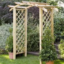 forest garden genoa wooden arch internet gardener