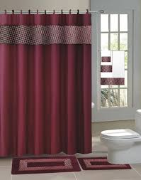 Rubber Backed Bathroom Rugs by Burgundy Shower Curtains Home Design Ideas And Pictures
