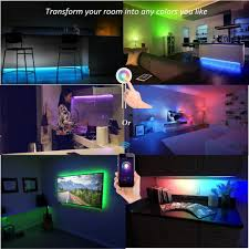 lombex smart wifi led light strip color changing rgb light strip