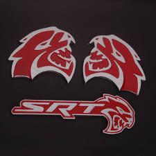 logo dodge challenger online shop bbq fuka 3pcs red hellcat emblem badge sticker decal