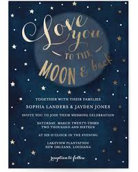 sale you to the moon and back wedding invitations