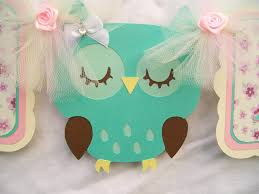 sleeping owl banner its a baby shower banner 30 00 via