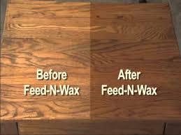 wax for wood table howard feed n wax youtube