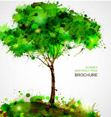 summer abstract tree brochure blots free vector graphic