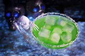 green cocktail skeletons in your closet tequila cocktail recipe