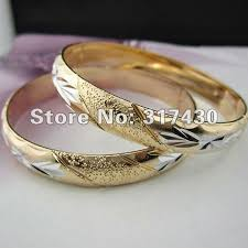 bracelet gold white gold images Low price free shipping 18k 18ct yellow gold filled oval plain jpg