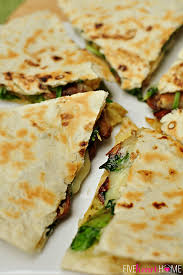 Any Ideas For Dinner Spinach U0026 Mushroom Quesadillas With Avocado U0026 Pepper Jack