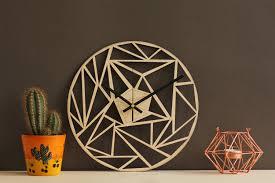 modern clock unique wall clocks geometric clock home decor