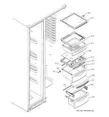 ge refrigerator w series parts model dsd26dhwabg sears partsdirect