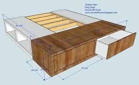 King Platform Storage Bed King Platform Frame Bemine Co