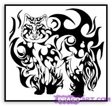 flag days tribal wolf designs