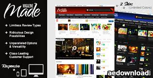 design magazine site made responsive review magazine site template free download free