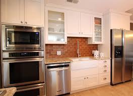 Red Kitchen Backsplash Kitchen Interior Simple Brick Red Kitchen Cabinets On Design