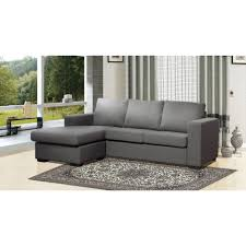 simple gray leather right chaise sectional sleeper sofa on floral